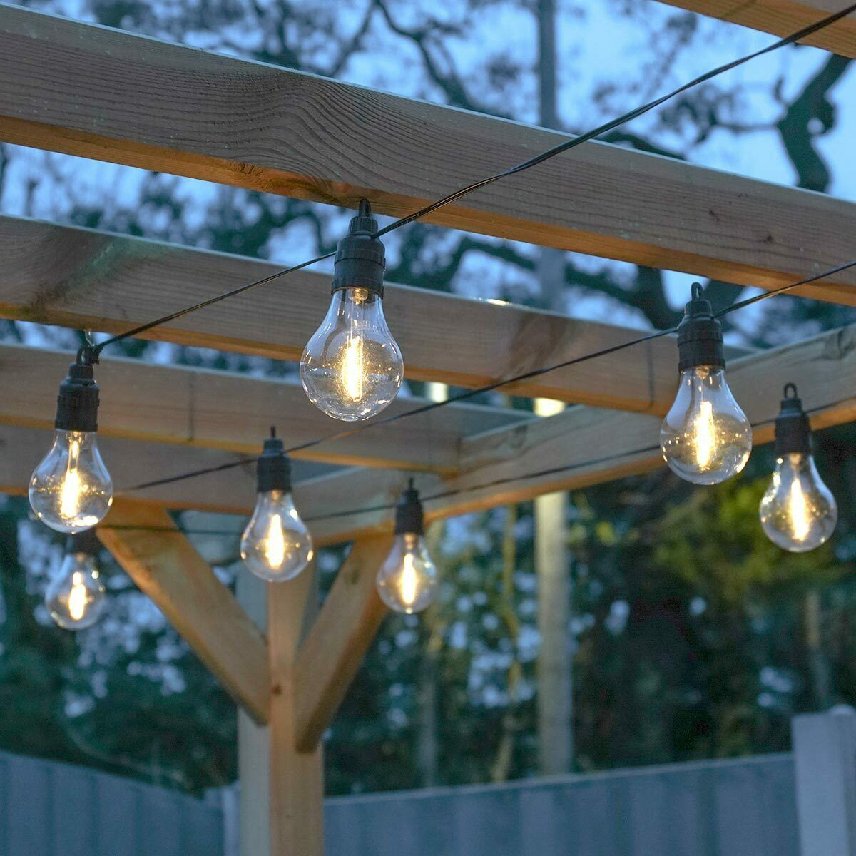 Details About Plug In Led Filament Festoon Fairy Lights Outdoor