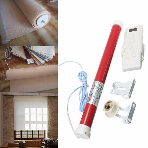 25mm Curtain Motor Electric Roller Blind Shade Tubular Motor Kit with Remote Control Sale - Banggood.com