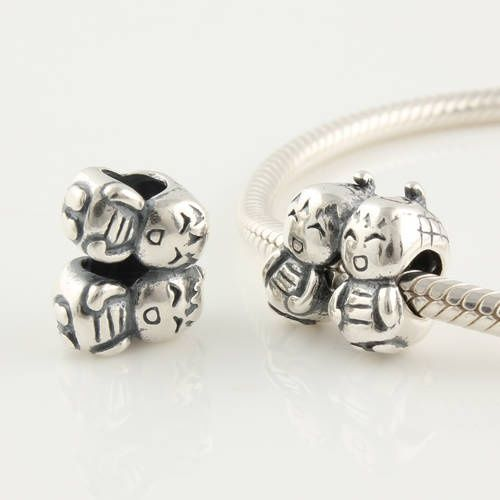 Pandora Earrings Canada: Pandora Sterling Silver Twin Sister Charm FJ255 Canada