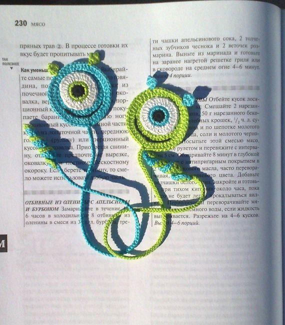 Crochet Bookmark Monster Gift Ideas For Book Lovers Crochet Etsy Crochet Books Crochet Bookmark Pattern Crochet Bookmarks