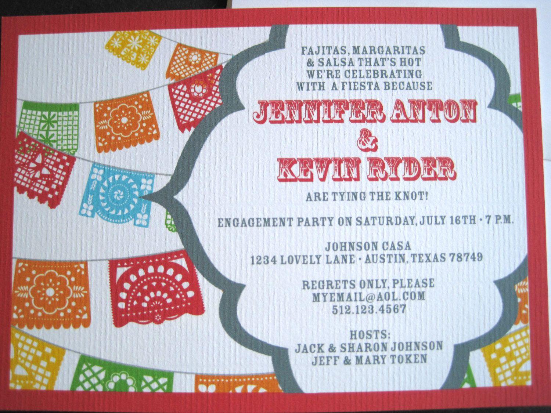 Fiesta Invitations with Papel Picado Banner-Printable. $15.00, via ...