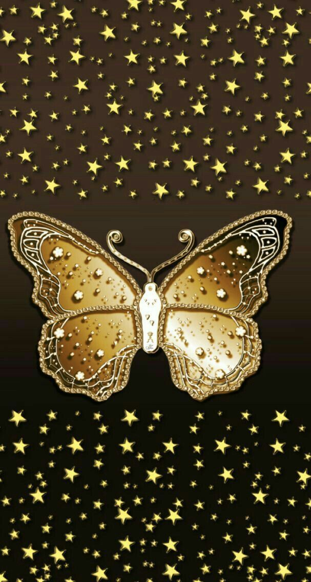 Pin by NikklaDesigns on Golden Wallpaper | Butterfly ...