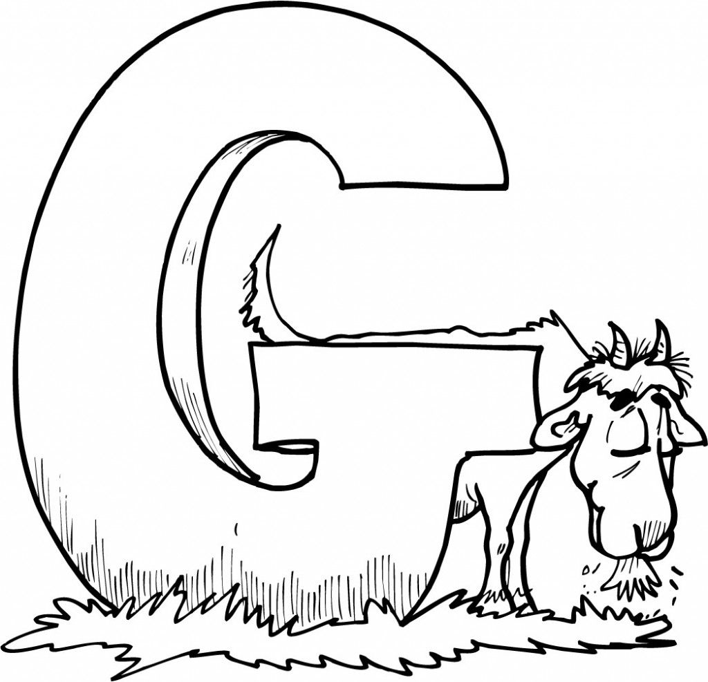 goat coloring pages printable alphabet letter g animal coloring