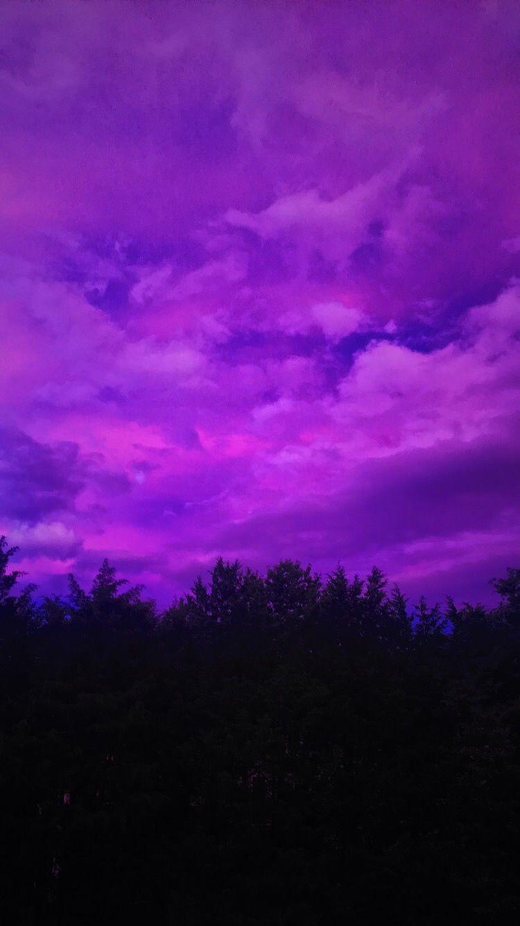 Purple skies Purple wallpaper, Violet aesthetic
