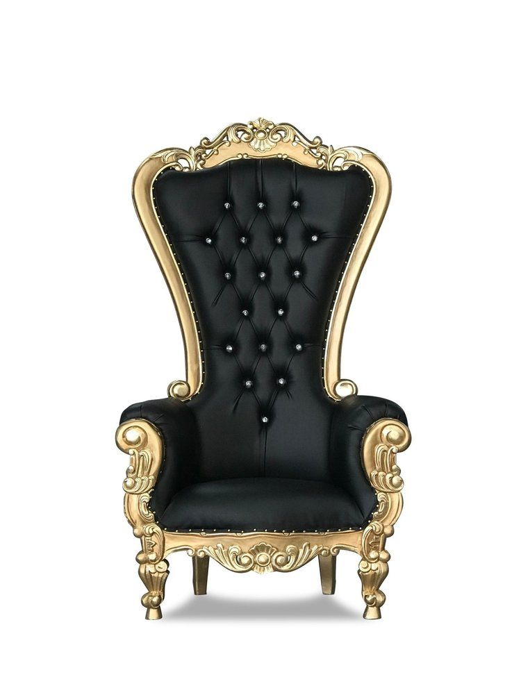 70 Sidebourne T Throne Chairs Gold Black Chiseled Perfections Throne Chair King Chair Chair