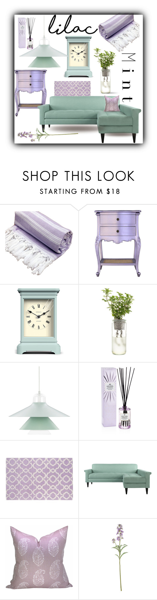 """""""Lilac and Mint"""" by queenofsienna ❤ liked on Polyvore featuring interior, interiors, interior design, home, home decor, interior decorating, Newgate, Normann Copenhagen, Voluspa and Kaleen"""