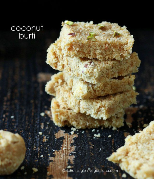 Coconut Barfi Recipe And Richa S Vegan Diwali Sweets Ebook Review Vegan Sweets Recipes Coconut Barfi Recipe Diwali Sweets
