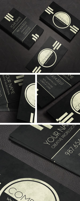 Caveat - Art Deco Business Card Template | Cool | Pinterest | Card ...