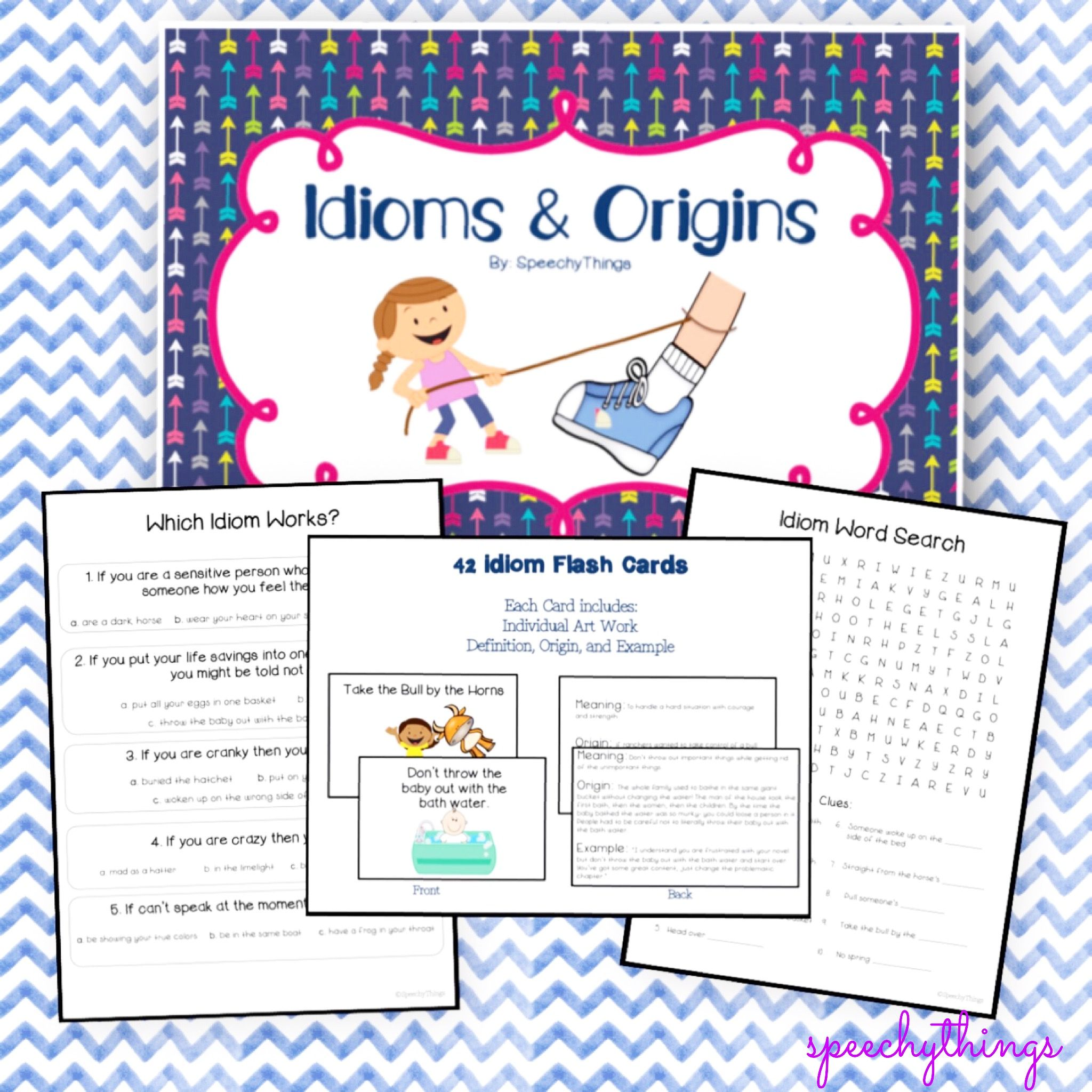 Idioms Worksheets Amp Flash Cards