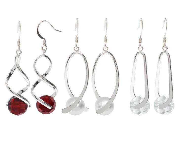 f38e198e32163 Beadaholique Swarovski Pinch Bail Earrings - Red and Silver ...