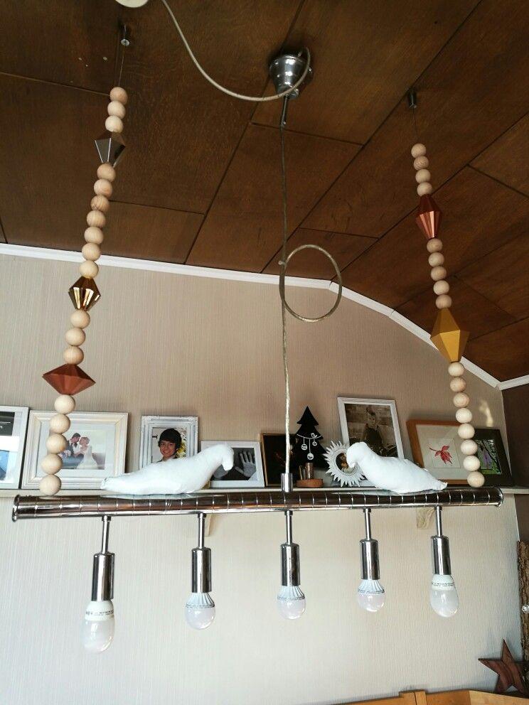 Ikea Und Holz Perlen Machen Eine Neue Esszimmer Lampe Tauben Habe