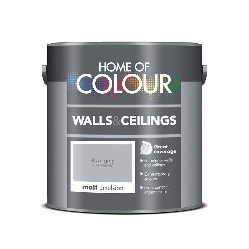 Best Home Of Colour Dove Grey Matt Emulsion Paint 2 5L 400 x 300