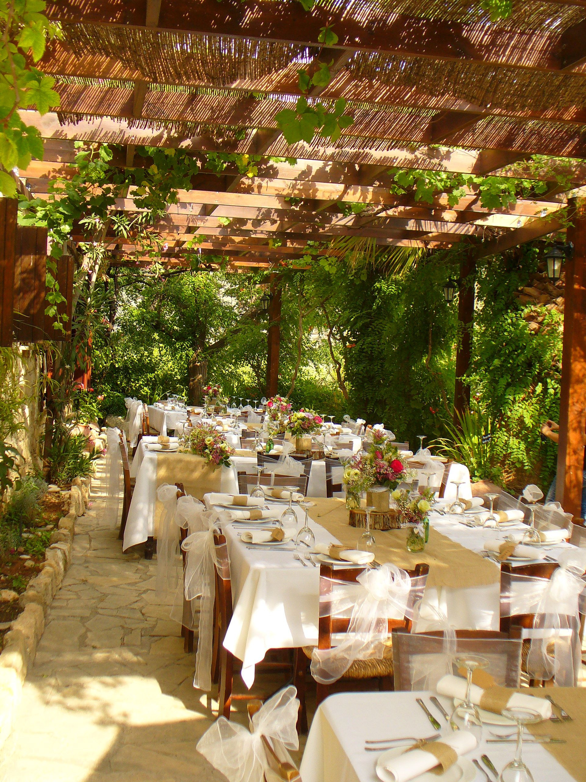 Our vine covered terrace offered to you exclusively for your wedding our vine covered terrace offered to you exclusively for your wedding dinner junglespirit Images