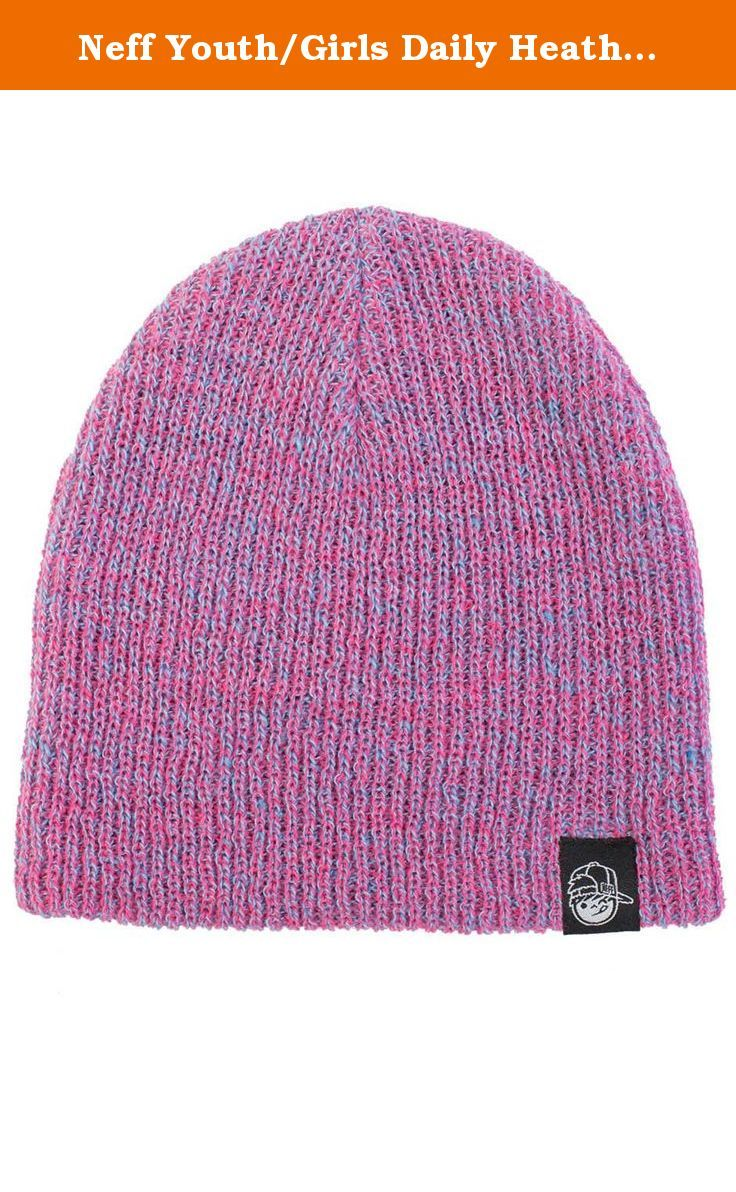59a504eb7cc Neff Youth Girls Daily Heather Beanie Pink Blue. Heathered beanie with  super soft knit. Kenni face logo. One size fits most. 100% acrylic.