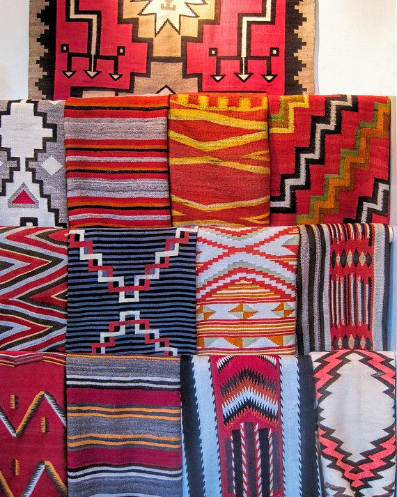 Southwest Wall Art Santa Fe Decornavajo Weaving S Etsy Southwest Wall Art Santa Fe Decor Navajo Weaving