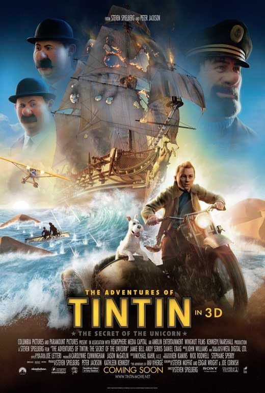 The Adventures Of Tintin The Secret Of The Unicorn 11x17 Movie