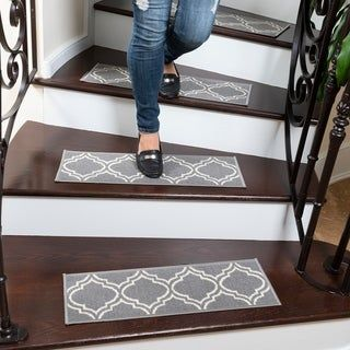 Best Ottohome Patterned Non Slip Pet Friendly Stair Treads Set 400 x 300