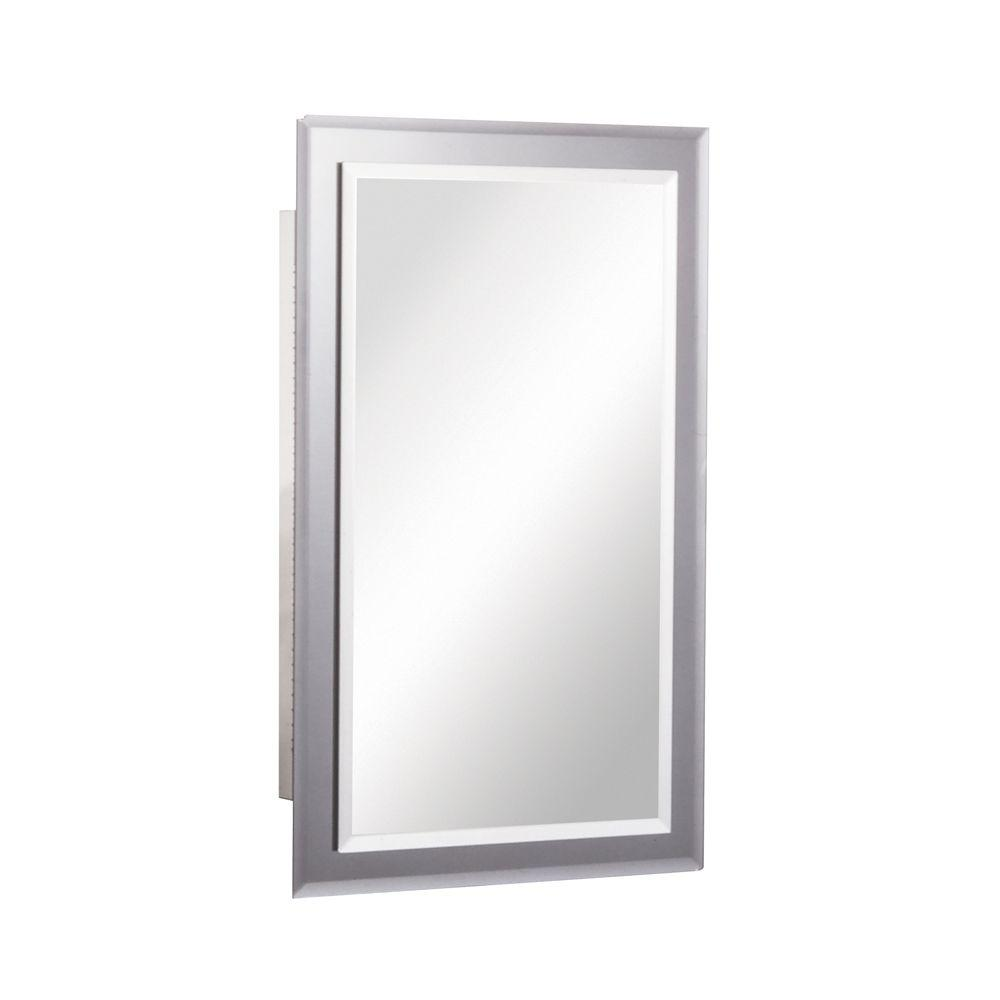 Mirror On Mirror 16 In W X 26 In H X 5 In D Frameless Recessed