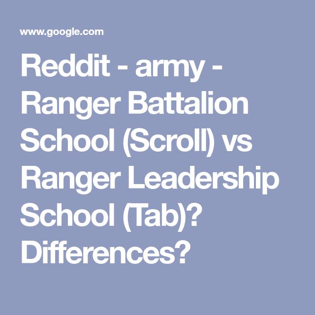 Reddit - army - Ranger Battalion School (Scroll) vs Ranger