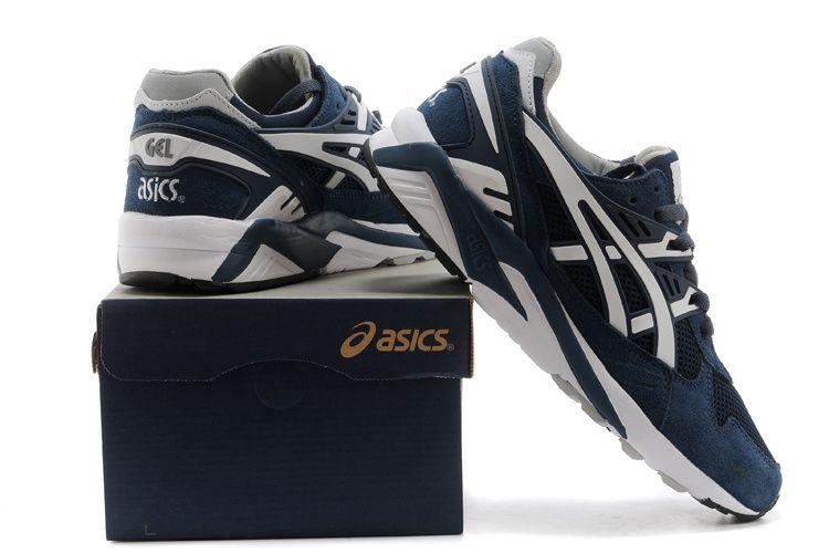 Asics Gel Saga II Running Shoes Deep Blue White  onitsukatiger ... d6eb30f8b6