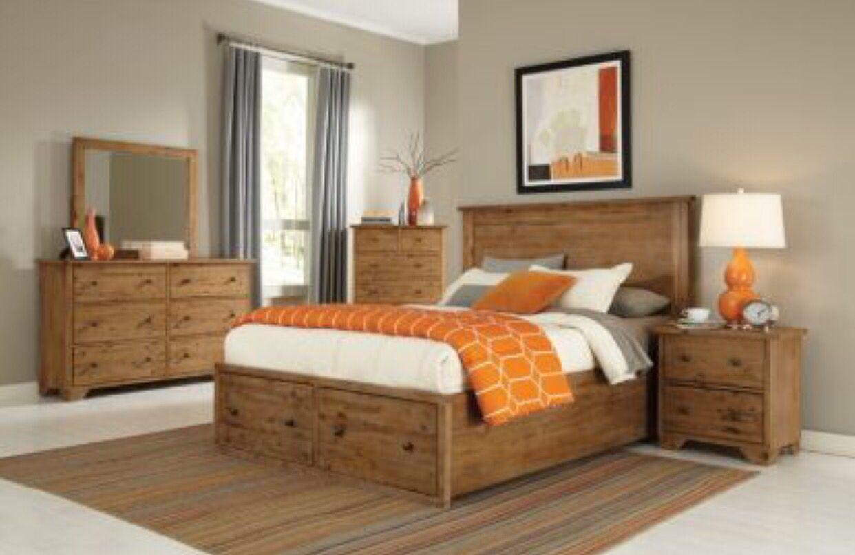 Good Distressed Wood Bedroom Set | Maine Craftsman Annabella Collection