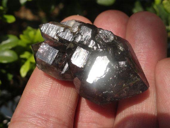 Tibetan Black Phantom Enhydro Quartz Crystal 25 by FaesBlueMoon, $25.00