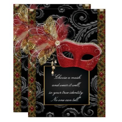 Masquerade Sweet 16 Party Mis Quince Anos Card Glitter
