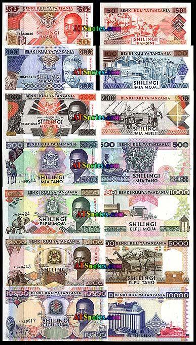 tanzania currency | Tanzania banknotes - Tanzania paper money catalog and Tanzanian ...