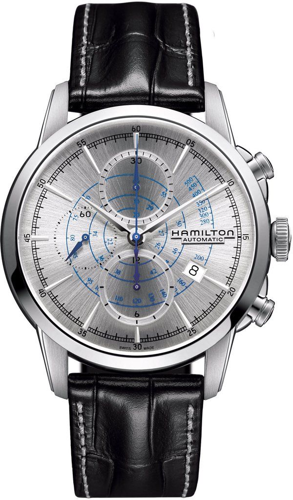 @hamiltonwfan American Classic Rail Road Chrono #bezel-fixed #bracelet-strap-leather #brand-hamilton #case-material-steel #case-width-44mm #chronograph-yes #date-yes #delivery-timescale-call-us #dial-colour-grey #gender-mens #luxury #movement-automatic #official-stockist-for-hamilton-watches #packaging-hamilton-watch-packaging #style-sports #subcat-american-classic #supplier-model-no-h40656781 #warranty-hamilton-official-2-year-guarantee #water-resistant-50m