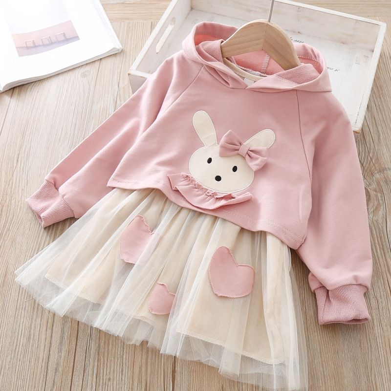Toddler Girls Baby Kids Clothes Long Sleeve Party Princess Casual Dress