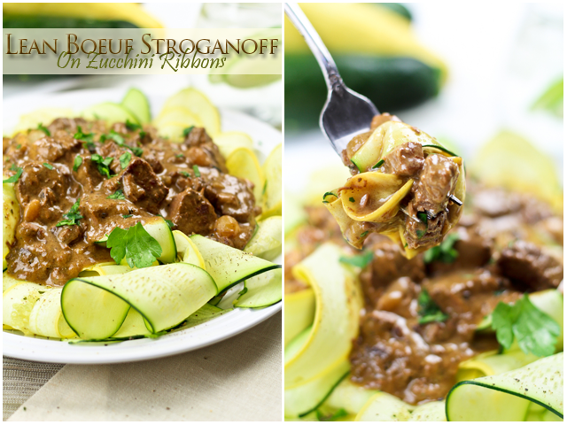 Lean Beef Stroganoff on Zucchini Ribbons | Recipe | As Seen on THF | Healthy beef stroganoff ...