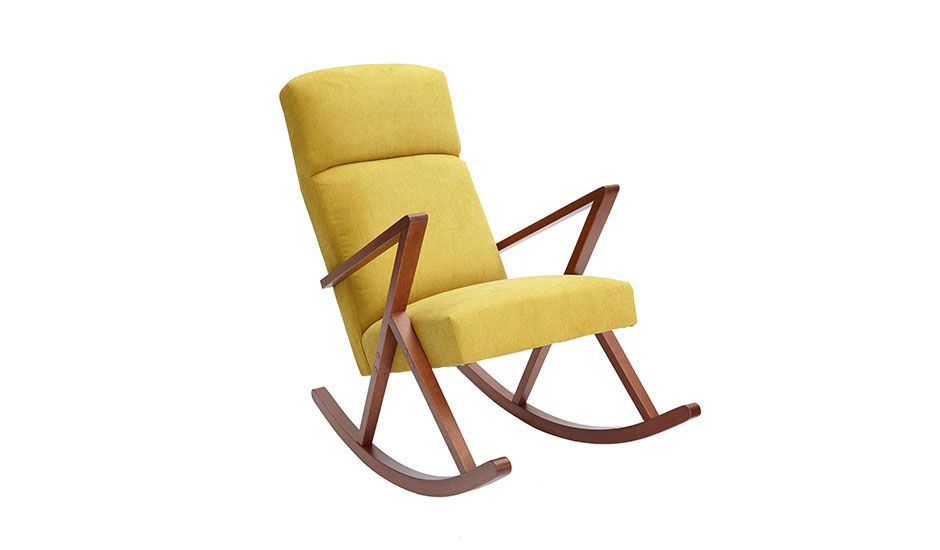 Long Rocking Chair Yellow By Sternzeit Design Monoqi Stuhl