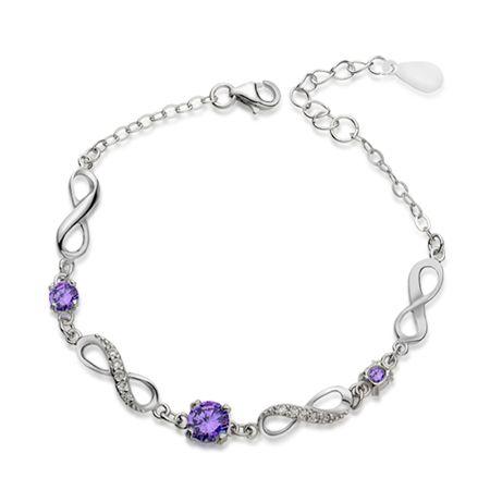 Silver Bracelets for Teenage Girls | Swarovski Crystal Bracelets for Girls Sterling Silver Bracelet - CAS ...