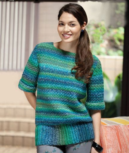 Xanadu Pullover Free Crochet Pattern From Red Heart Yarns New New