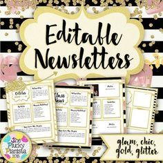 Newsletter Templates Chic  Glam Editable Monthly Templates
