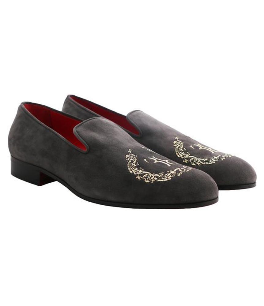 Grey Suede Loafers – Billionaire Italian Couture men's suede