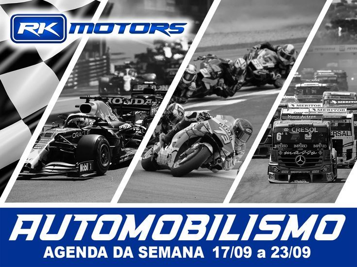 Programação automobilismo - agenda 17/09 a 23/09 - RK Motors