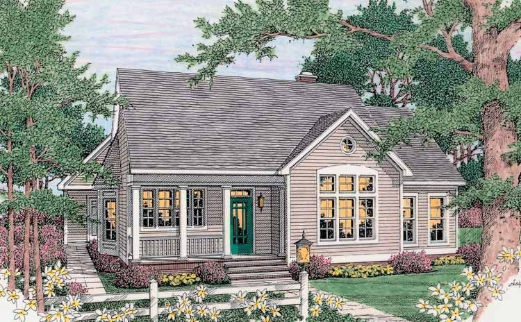 Eplans cottage house plan family friendly layout 1543 for Eplans cottage house plan