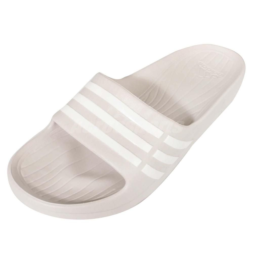 daaa8b1d82338a Adidas Duramo Sleek W Grey White Womens Sports Slides Sandals Slippers  B23234