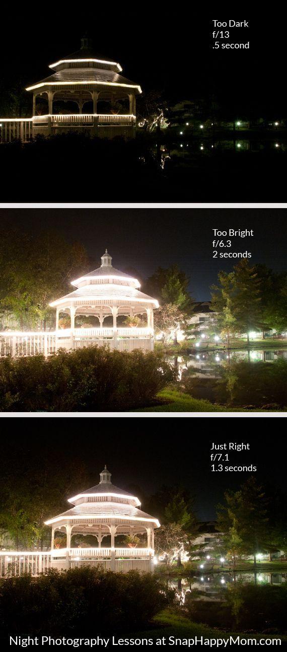 Wie man Nachtaufnahmen der Landschaft von SnapHappyMom.com macht