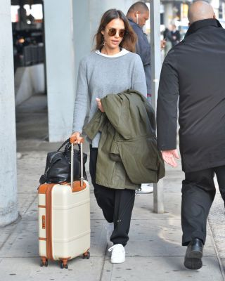 90fe9598e38 105 Celebrities Looking Chic at the Airport—in Clothes You d Actually Want  to Wear. Celebs wearing chic