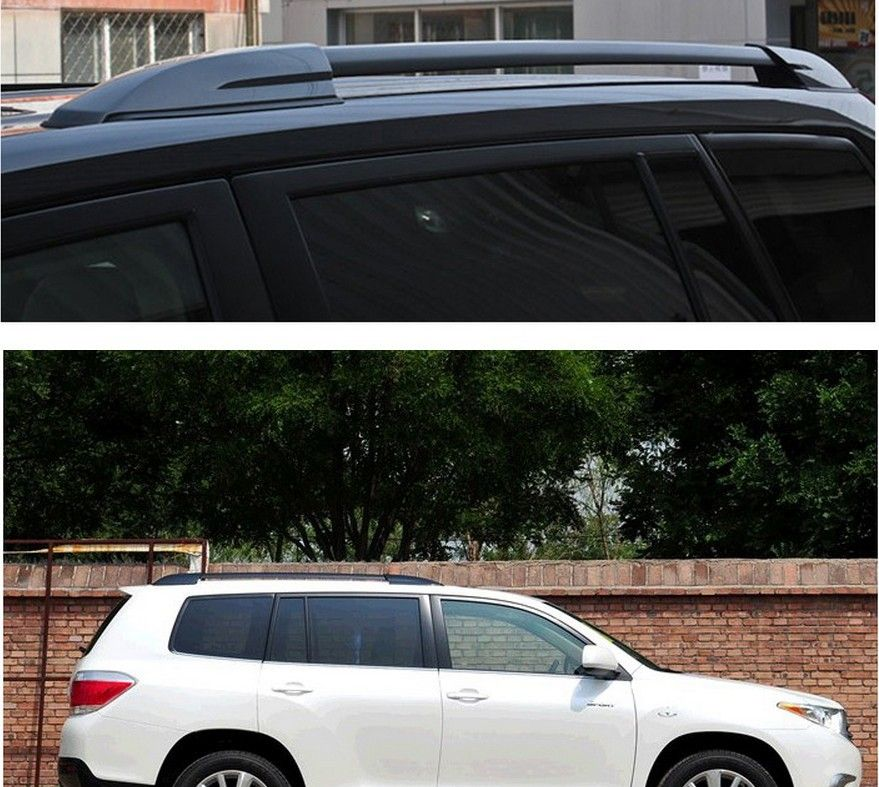 Hight Quality Black Roof Rack Side Bars Rails Luggage Carrier For