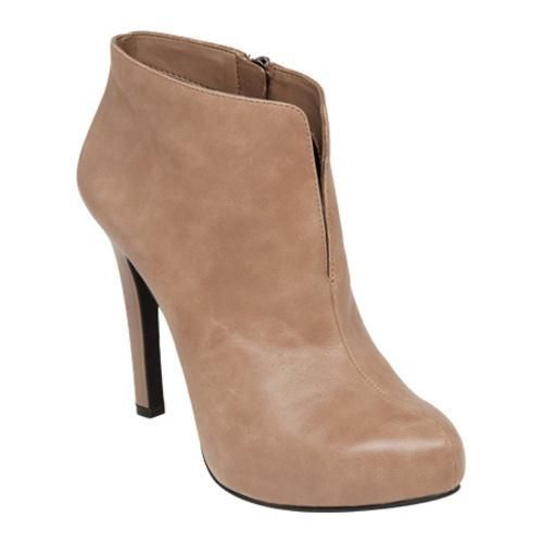 """Akito is a stylish high heel bootie with a stylish slit and a side zipper entry. 3/4"""" platform."""
