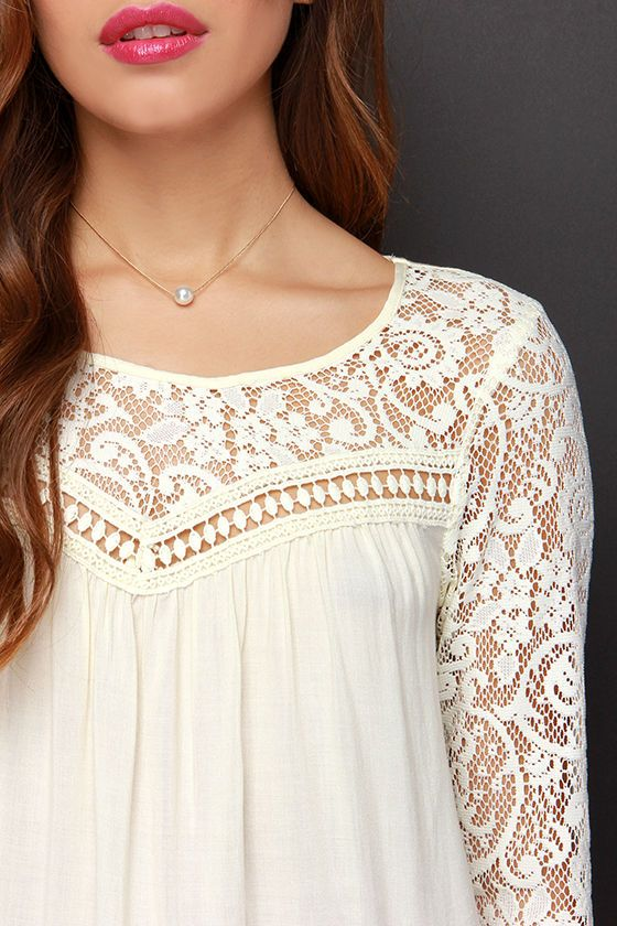 f5fd6eda2ffb49 Combining all your favorite features, the Cute Rules Everything Around Me  Cream Lace Top is worthy of praise! This lightweight woven top has a lace  ...