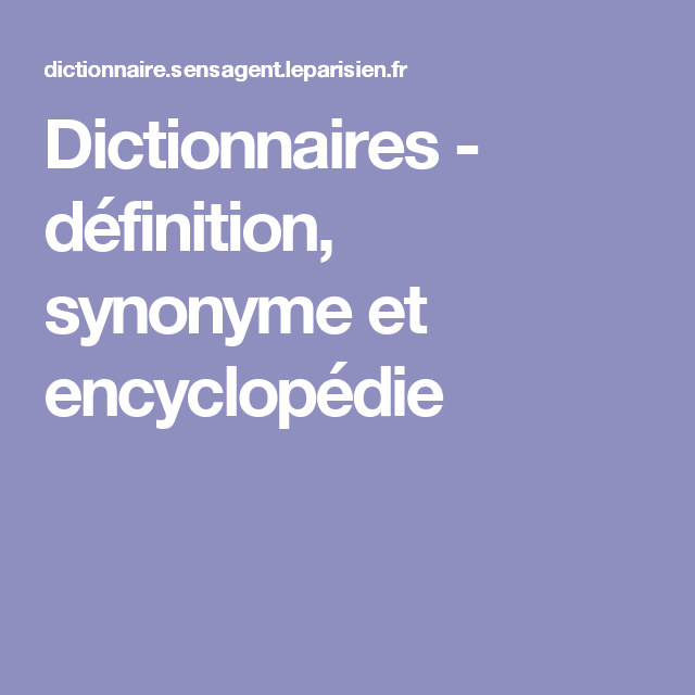 encyclopedie synonyme