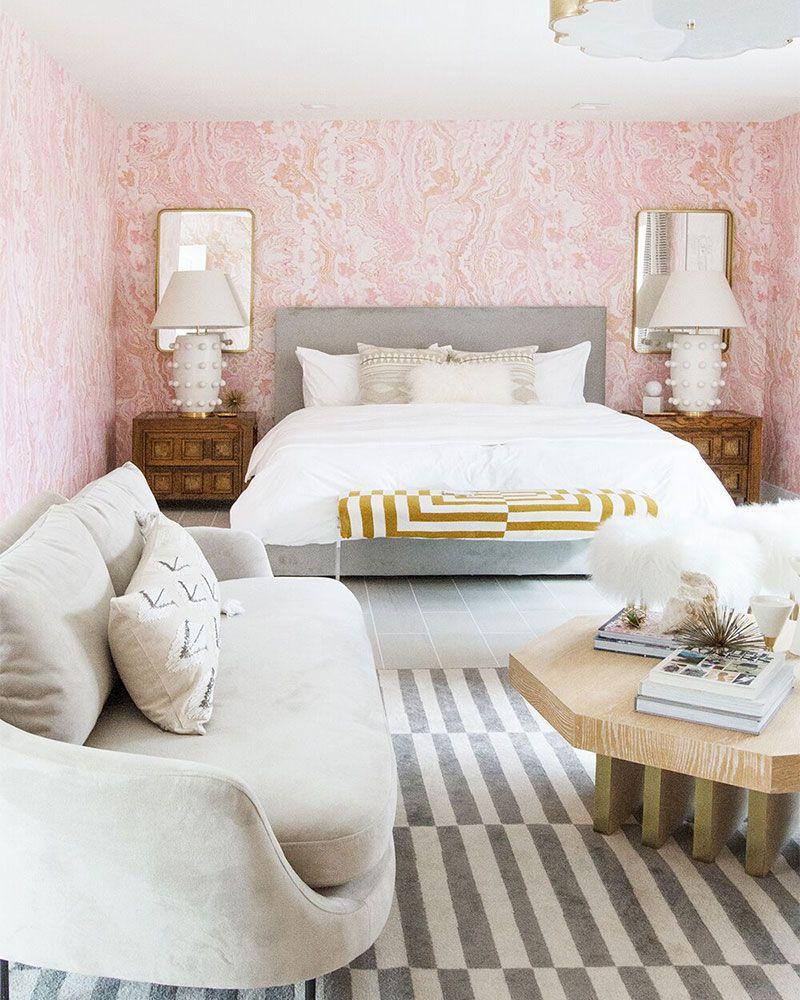 Millennial Pink Bedroom Designer Sarah Sherman Samuel