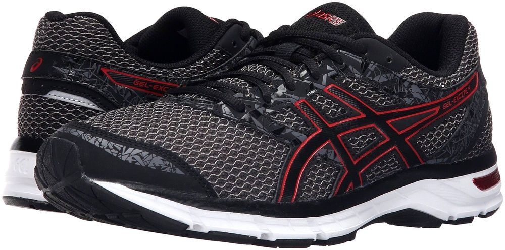 541d80246 ASICS GEL-EXCITE 4 T6E3N 9023 BLACK TRUE RED CARBON RUNNING SHOES Size 11.5