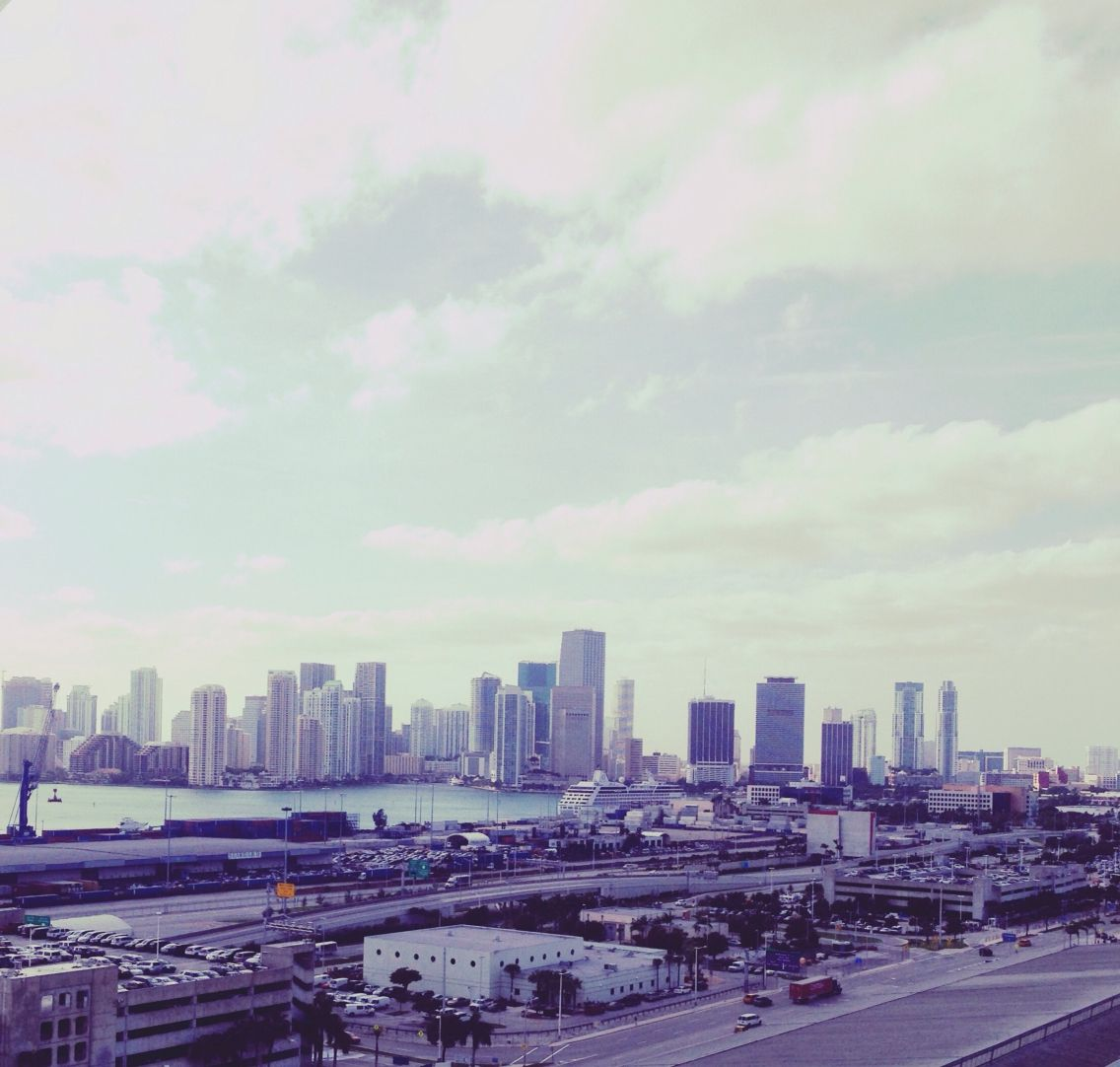 The view from my cruise in Miami