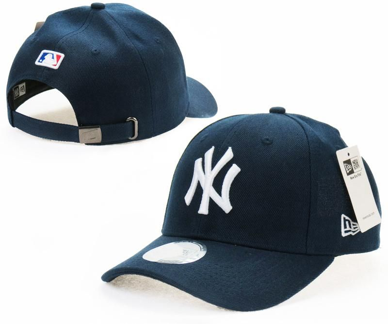 online store 9b5b2 9171f Mens   Womens New York Yankees New Era Solid 6 Panel Strap Back Baseball  Adjustable Polo Cap - Navy   White