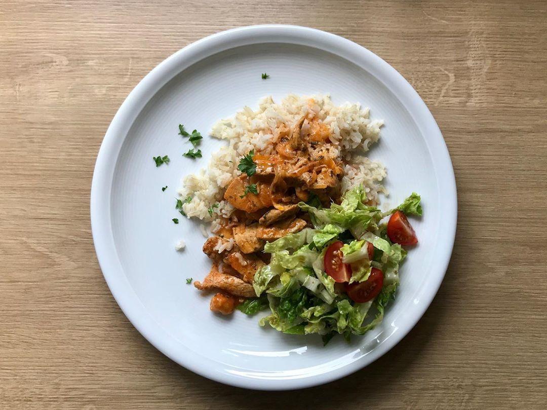 Gyros mit Vollkorn-Reis und Salat 🍽 . . . %